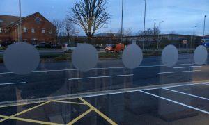 Safety Window Film - for glass manifestation building regs