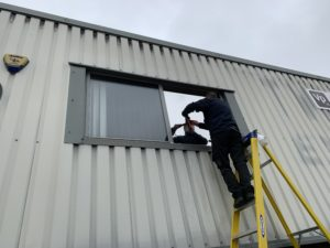 solar control window film being fitted in Birmingham