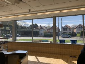 Supermarket fitted with our reflective window film in Derby