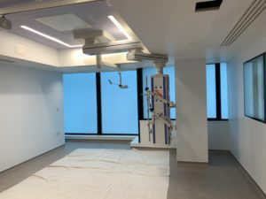 privacy window film installed at this BUPA hospital, London
