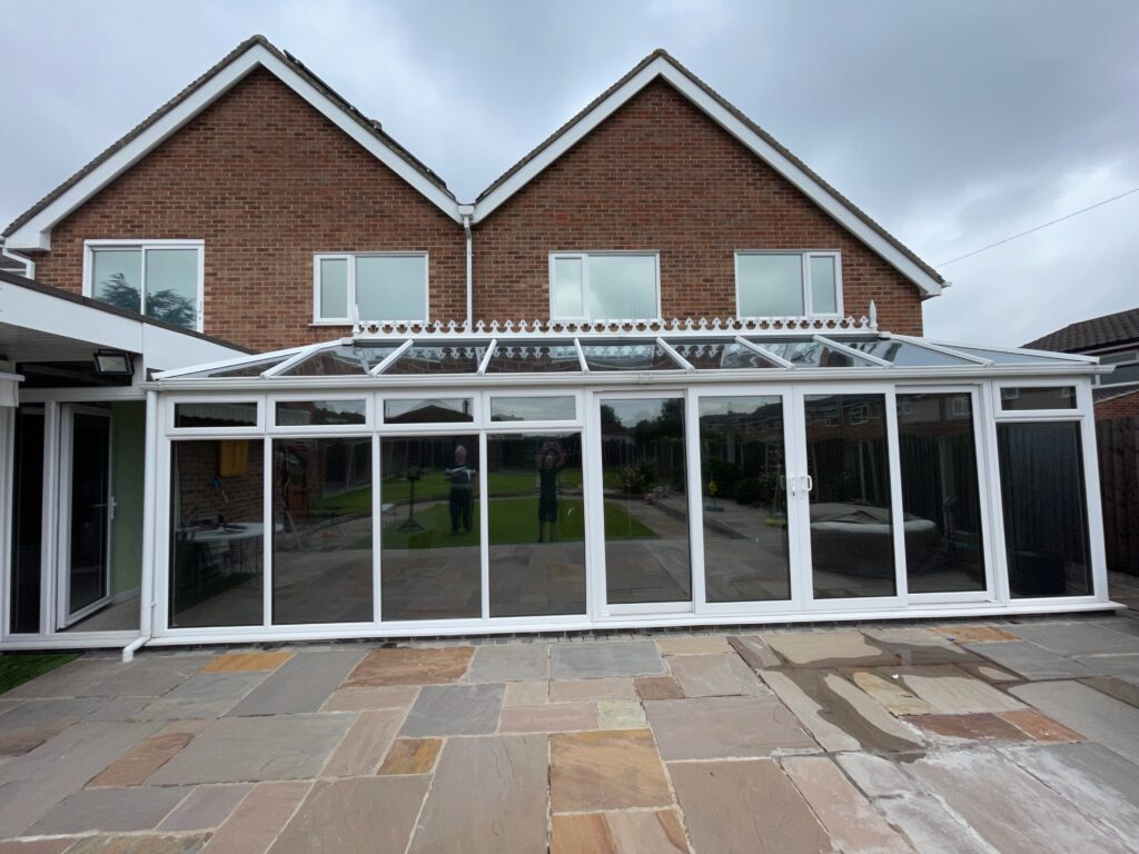 Reduce conservatory heat by fitting a solar-control reflective window film in Derby